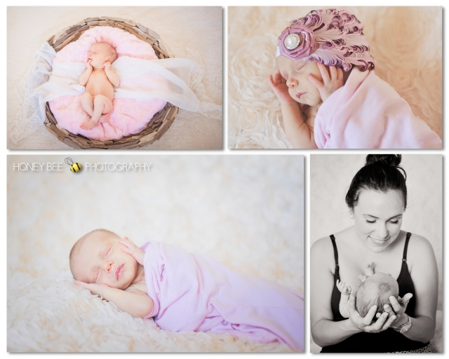 Brisbane Newborn | Children | Family | Maternity Photography | Props | Black & White | headbands | Pink | Baby girl