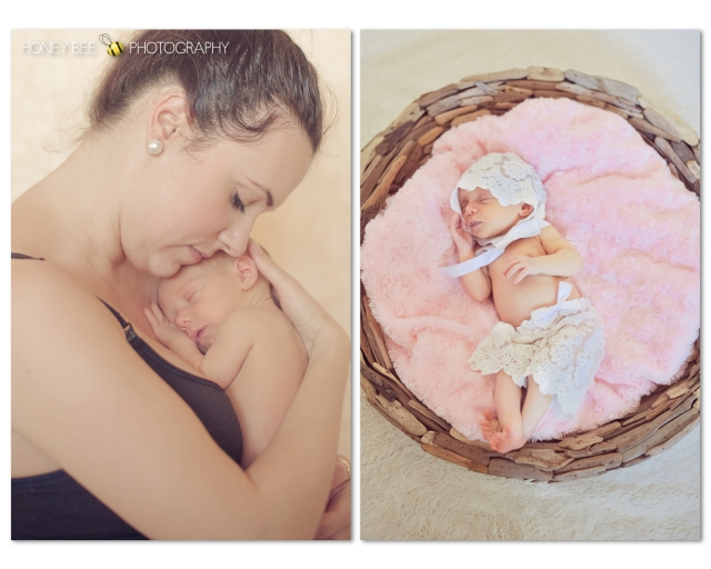 Brisbane Newborn | Children | Family | Maternity Photography | Props | Driftwood Bowl | Pink | Baby Girl | Mother's love