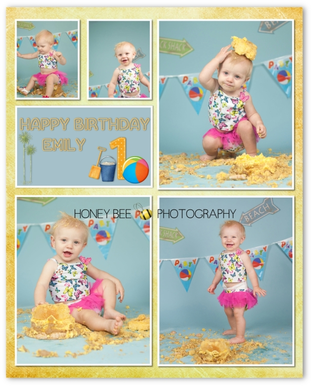 Emily 1Brisbane Family | Children | Newborn | Maternity Photography | Babies | Cute | Props | Cake smash | Turning 1 | Custom cake | Beach | Sandcastle | Collage