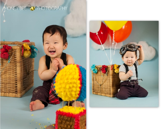 Brisbane Family | Children | Newborn | Maternity | Wedding Photography | Babies | Cute | Props | Cake smash | Turning 1 | Custom cake | Hot Air Balloon | goggles