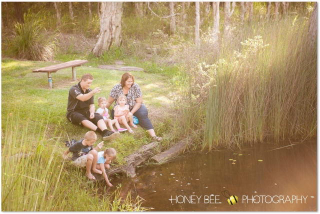 Brisbane Family | Children | Newborn | Maternity | Wedding Photography | On Location | Pond | Feeding Fish  | Golden Hour