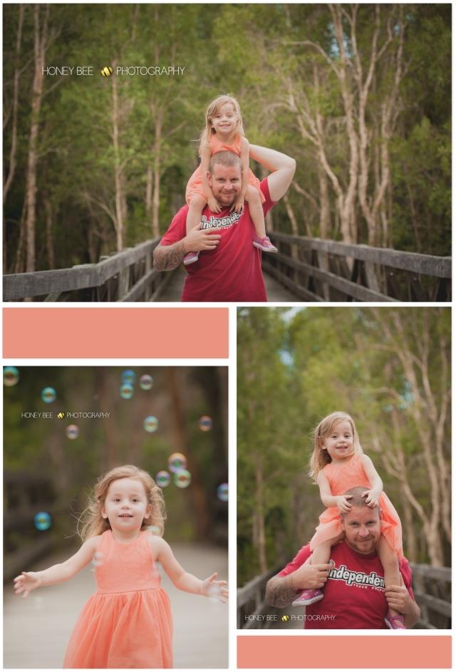 Brisbane Family Photographer, Brisbane Childrens Photographer, Bubbles, Bridge, Daddy & me
