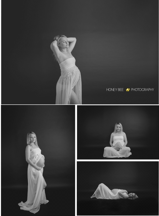 Brisbane Wedding, Maternity, Newborn, CHildren and Family Photographer, Black & White, maternity gown, studio portraits