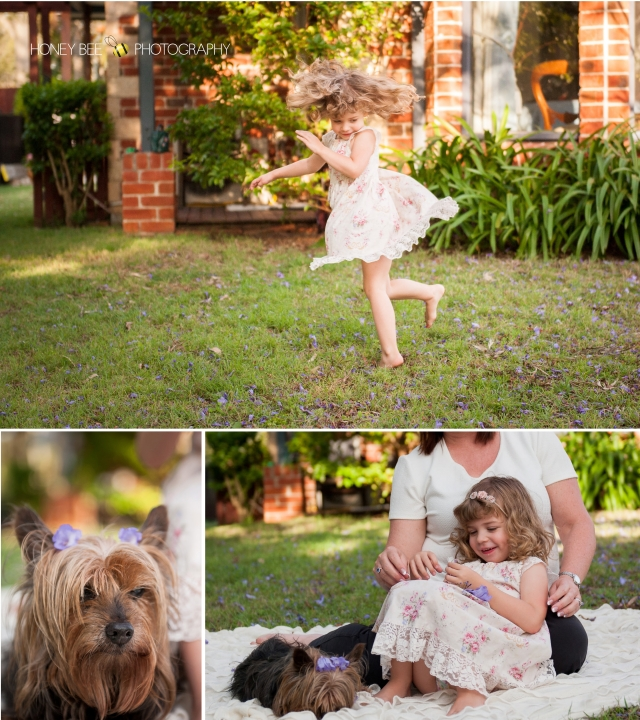 Brisbane Wedding, Maternity, Newborn, Children and Family Photography, Swing, jacaranda, black and white, teddy bears and dolls, pets